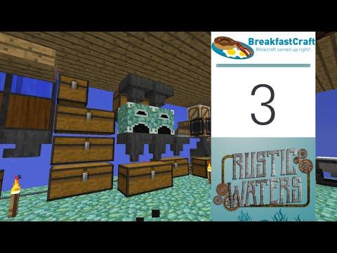 3 | Rustic Waters - Basic Sluice Automated | 1.12.2 Modded Minecraft | Breakfastcraft