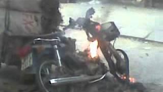Cháy xe honda tại yên sở hoài đức