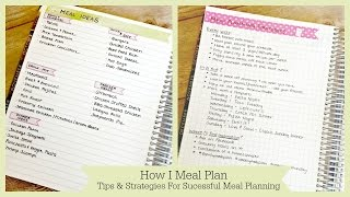 Meal Planner - How To Meal Plan | Strategies and Tips