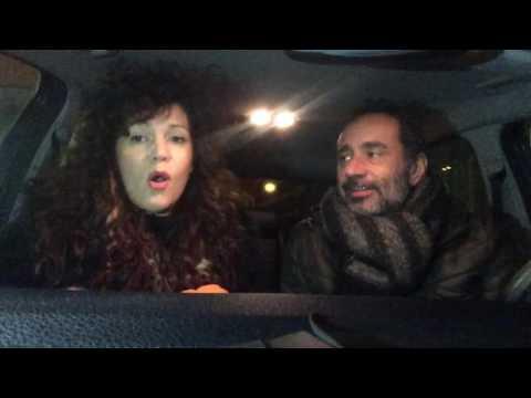Chiara Luppi e Leandro Barsotti: buon Natale dall'auto
