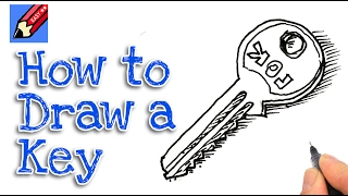 Learn how to draw a  key real easy for kids and beginners