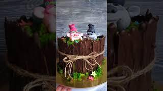 Необычный декор свадебного торта - тролли