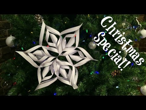 Easy 3D Paper Snowflake   Christmas & Winter Decorations