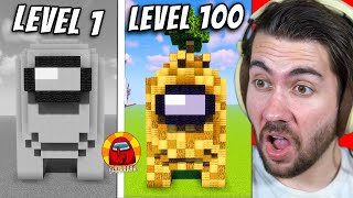 Level 1 To 100 Among Us Skins In Minecraft