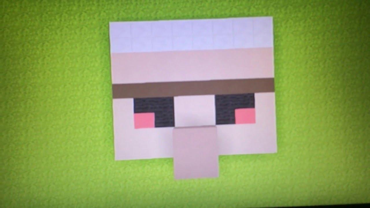 Minecraft iron golem pixel art head - YouTube