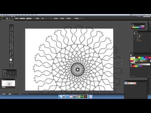 Mirror symmetry in Illustrator using paths (Intermediate) tutorial