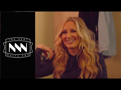 Lee Ann Womack visits with Bruce Robison backstage