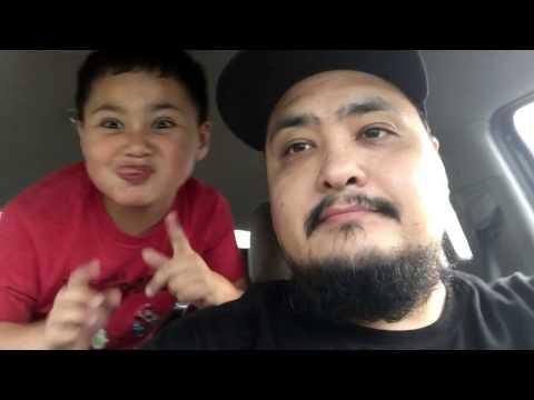 Dad and Danger sing car Kareoke