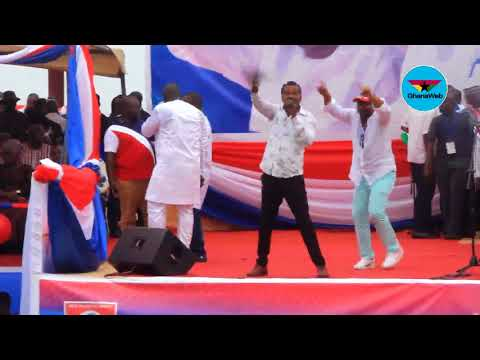 Lucky Mensah performs at NPP Delegates Conference Rally at Cape Coast