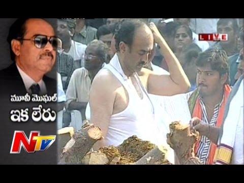 Ramanaidu's Cremation at Ramanaidu Studios : Exclusive