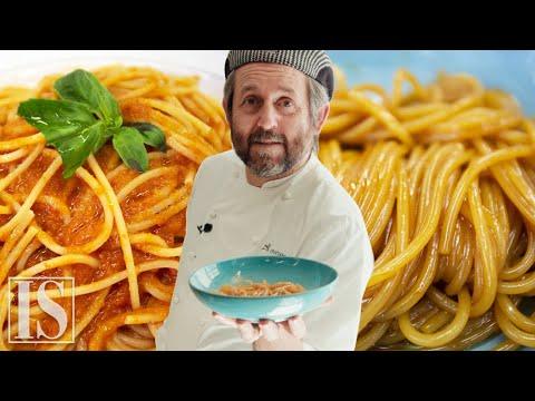 Spaghetti al pomodoro: originale (pumarola) vs. gourmet con Cristiano Tomei
