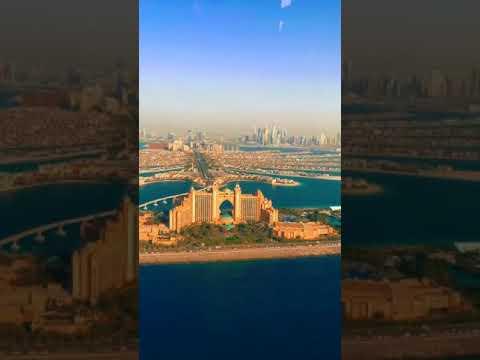 Burj alarab and Burj khalifa top view 😮from helicopter(Dubai 7 star 🌠 hotel)