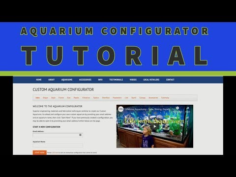 Custom Aquarium Configurator Tutorial
