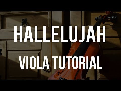How to play Hallelujah on Viola