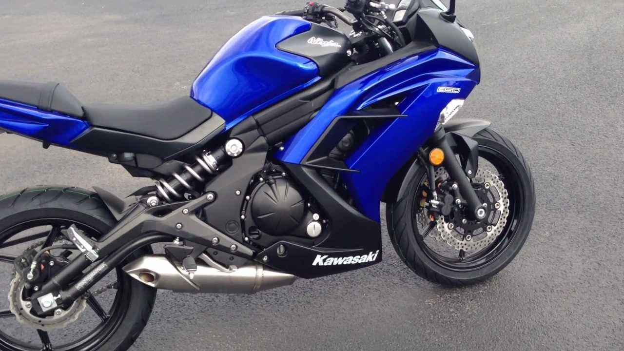 2013 Kawasaki Ninja 650 In Blue - YouTube