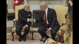 Trump Meets India's Prime Minister Modi