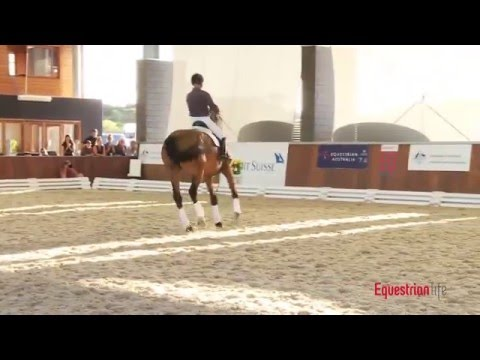 Rudolf Zeilinger and Lone Jorgensen Riding at the Credit Suisse Boneo Park Equestrian Festival