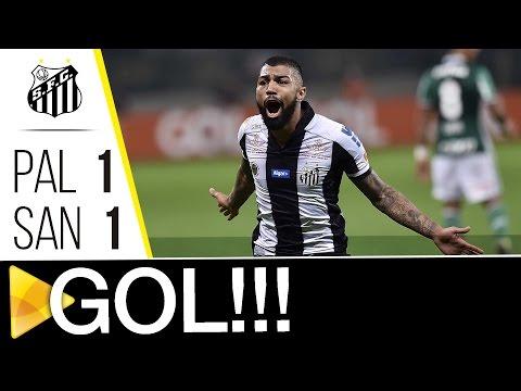 Palmeiras 1 x 1 Santos | GOL | Brasileirão (12/07/16)