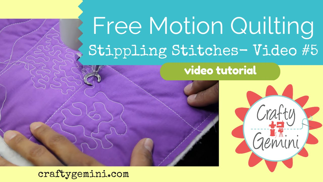 Easy free-motion quilting motifs, simple as 1-2-3 (free tutorial +.