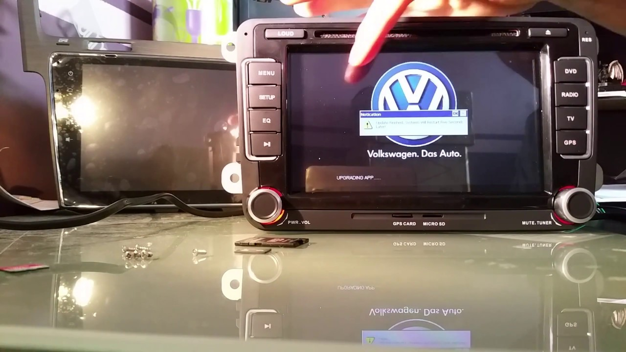 comment mettre a jour carte sd gps volkswagen Autoradio Multimedia mise a jour   YouTube