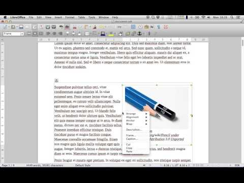 How to put text around image with LibreOffice Writer