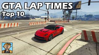 Top 10 Fastest Cars (2019) - GTA 5 Best Fully Upgraded Cars Lap Time Countdown