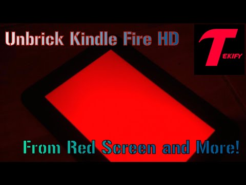 """Unbrick Kindle Fire HD 7"""" from Red Screen and More (Tutorial)"""