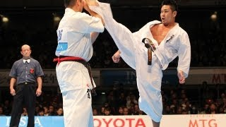 村山努vs森健太 The 42th All Japan Open Karate Tournament SEMIFINAL1...