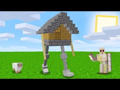 Minecraft But With A Walking House Youtube