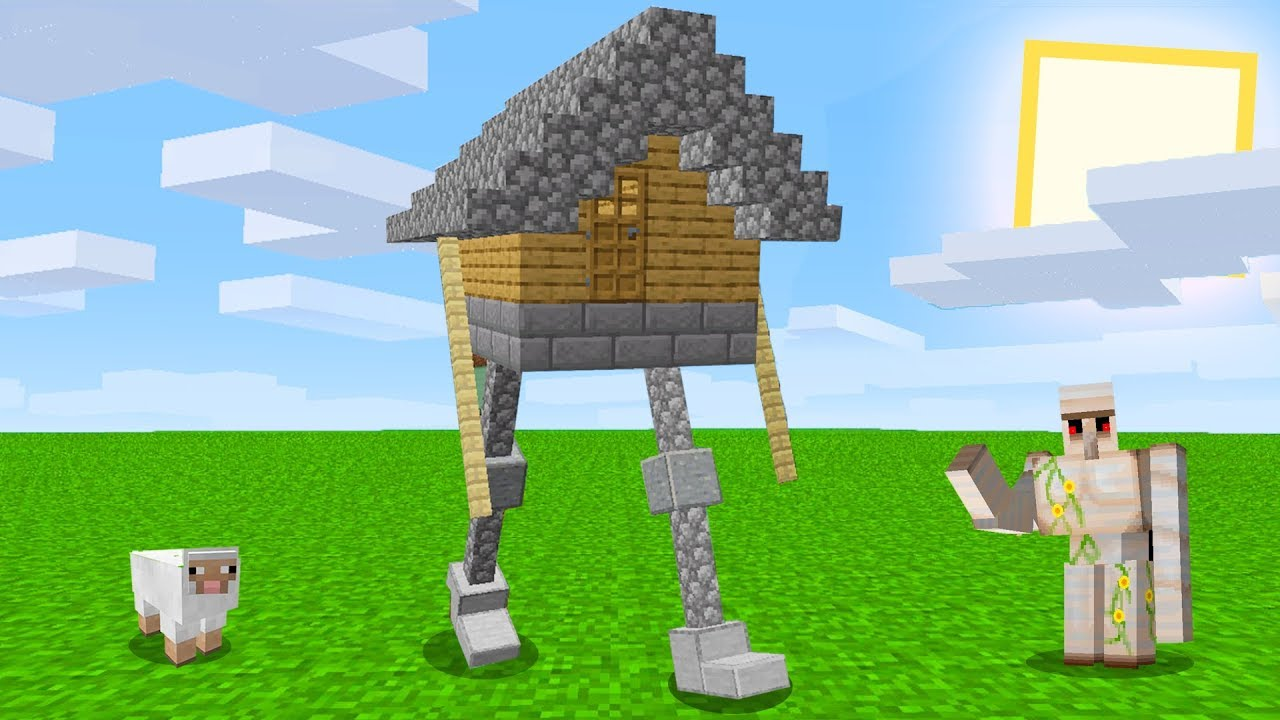 Minecraft but with a walking house