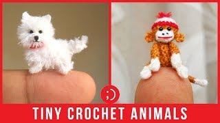 Micro Crochet Animals by SuAmi That Are Simply Incredible Amigurumi Miniatures