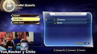 Yun Palmer ,Racker y chito jugando dragon ball xenoverse 2