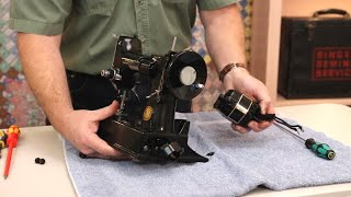 Singer Featherweight 221 222 Video Tutorial - Motor Removal