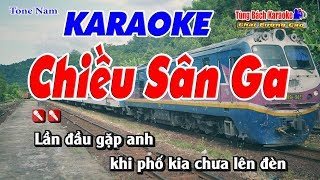 Chiều Sân Ga Karaoke 123 HD (Tone Nam) - Nhạc Sống Tùng Bách