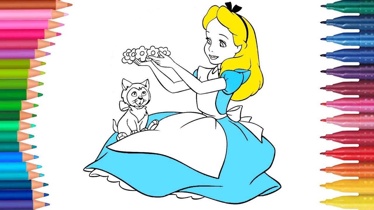 Alice Im Wunderland Deutsch Ausmalbilder Färbung Kleine Hände