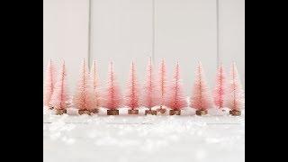How to Dye Bottle Brush Trees with Rit Dye - DIY Craft Tutorial