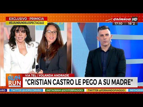 """""""Cristian Castro le pegó a su madre"""""""