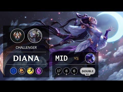 Diana Mid vs Ryze - EUW Challenger Patch 9.24
