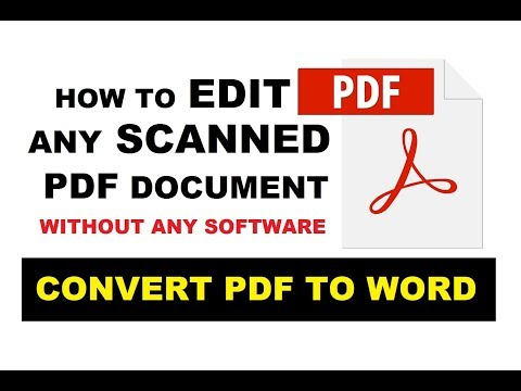 How To Edit Scanned PDF Document | Convert PDF To WORD File  Without Any Software | UPDATED