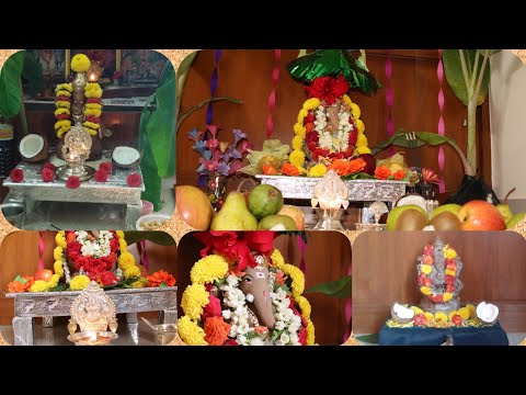 Ganpati decoration ideas for home - Ganesh decoration ideas for home