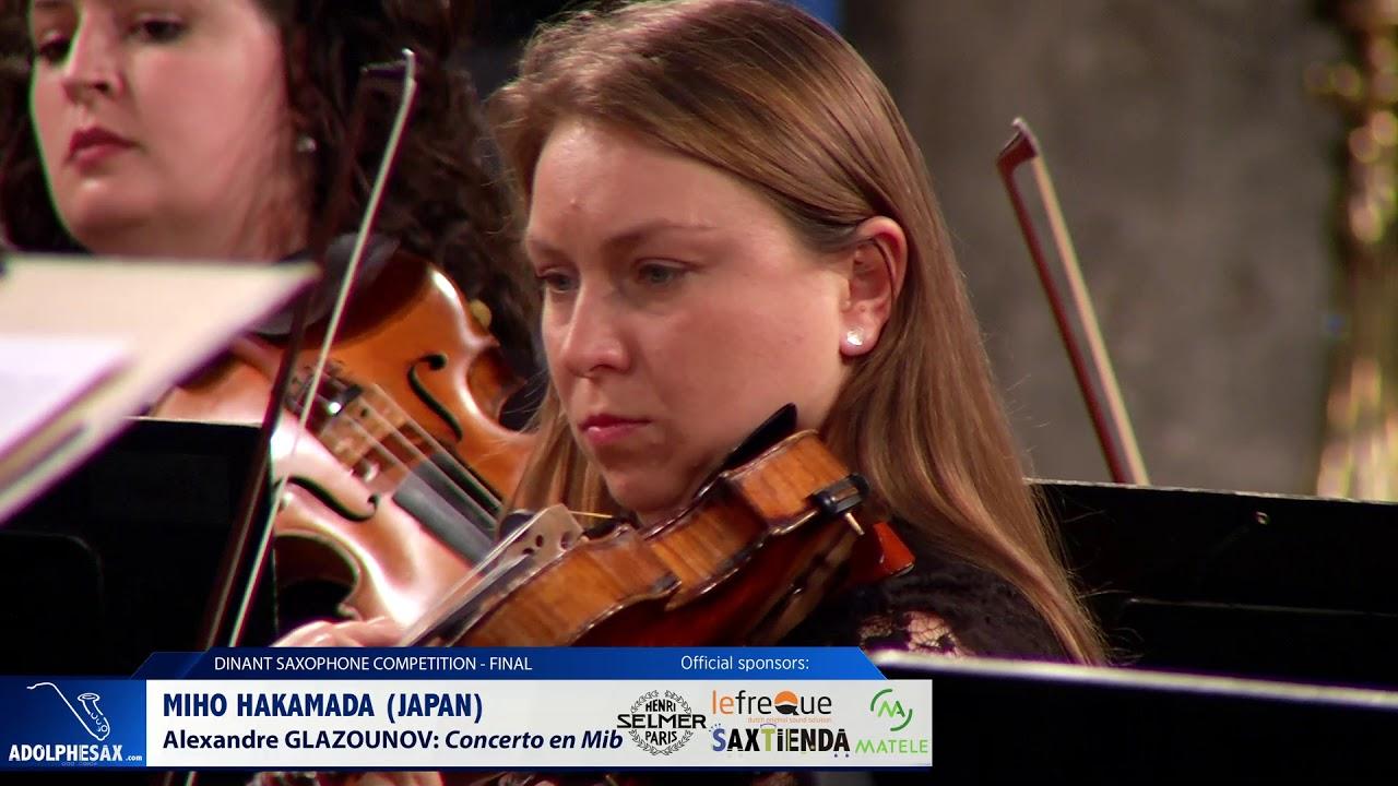 Miho Hakamada (Japan) - Concerto en Mi Bémol by Alexandre Glazounov (Dinant 2019)