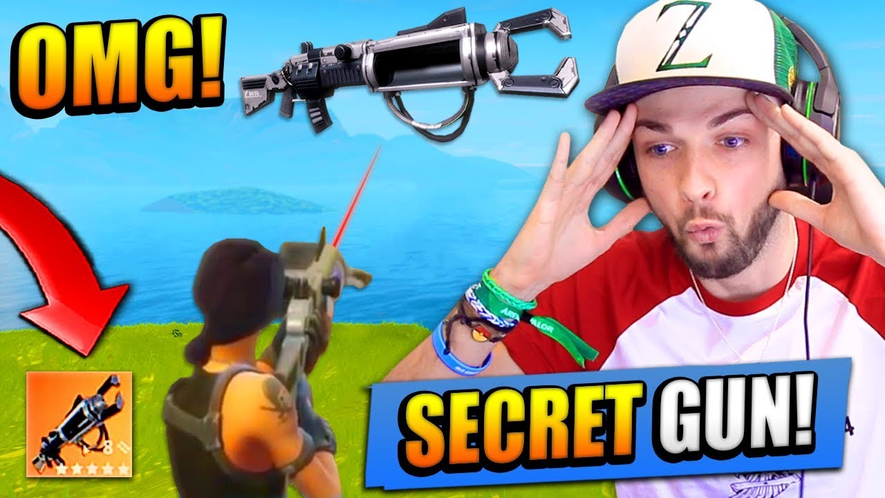 The Secret Gun In Fortnite Battle Royale Zapatron Sniper Youtube