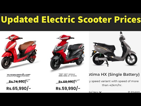 New Electric Scooters Prices in India 2021 - Fame ii Subsidy