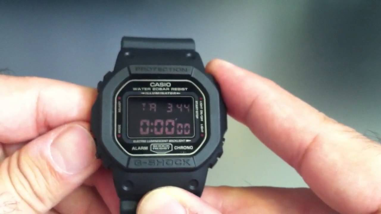 d4862248670 Casio G-Shock DW5600MS-1 Military Blackout Watch - YouTube
