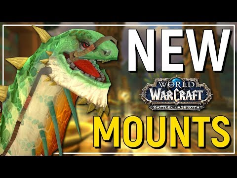 MASSIVE DINO! The Epic New Mounts of Battle for Azeroth - World of Warcraft