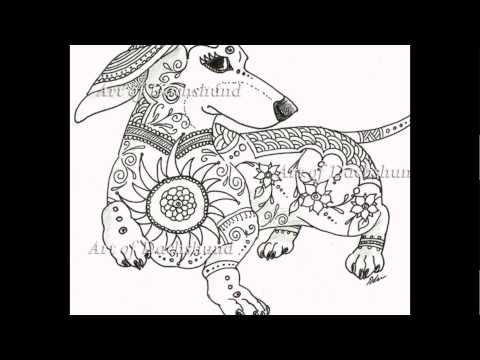 dachshund puppies coloring pages - photo#21