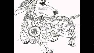 Art Of Dachshund - Coloring Book