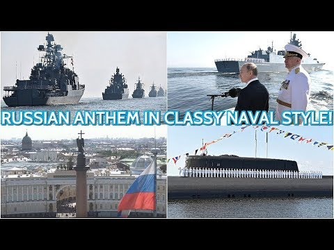 SPECTACULAR! Putin Directs Russian Anthem At The Main Naval Parade