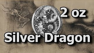 2017 2oz Silver Dragon Coin