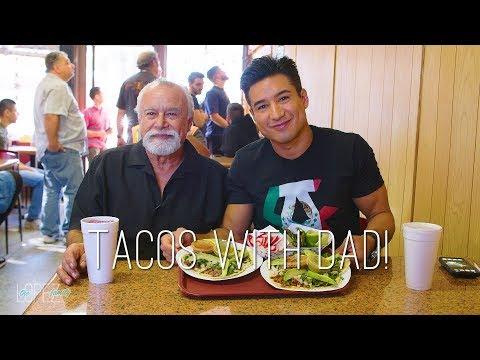 Mario Lopez and His Dad Eat Tacos!
